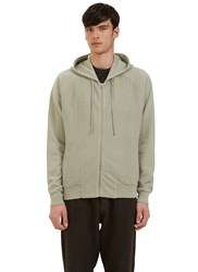 Les Basics Reverse Side Loopback Fleeced Zip Up Hooded Sweater Grey