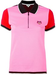 Kenzo 'Mini Tiger' Polo Shirt Pink And Purple