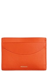Skagen Men's 'Torben' Leather Card Case Orange Bright Orange