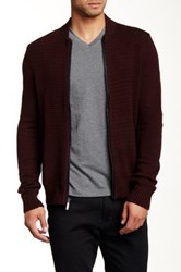Kenneth Cole Knit Zip Cardigan Red