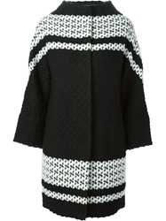Tsumori Chisato Oversized Patterned Coat Black
