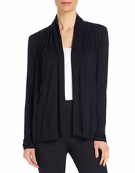 Ellen Tracy Draped Open Front Cardigan Black