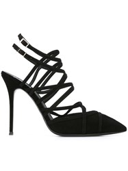 Giuseppe Zanotti Design Caged Stiletto Sandals Black