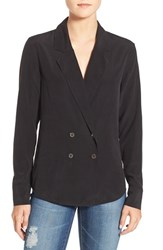 Ag Jeans Women's 'Brooks' Double Breasted Shirt True Black