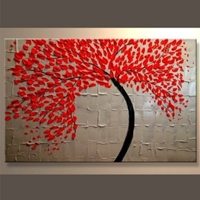 Amazon.Com Modern Abstract Ready To Hang Stretched Canvas Oil Painting Wall Art Canvas