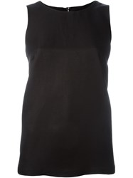 Alberto Biani Relaxed Fit Tank Top Black