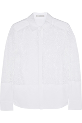 Erdem Beatrix Lace And Cotton Blend Piqua Shirt