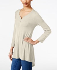 Styleandco. Style And Co. Ribbed High Low Top Only At Macy's Stonewall
