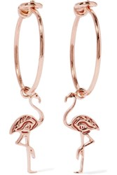 I I Flamingo 14 Karat Rose Gold Earrings