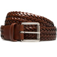 Andersons Belts Brown Calf Leather Woven Belt