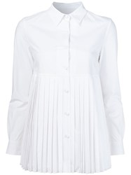 Co Pleated Shirt White