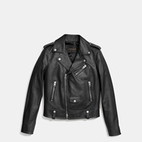 Coach Icon Moto Jacket Black