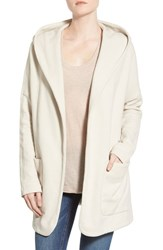 Women's James Perse French Terry Open Front Hooded Coat