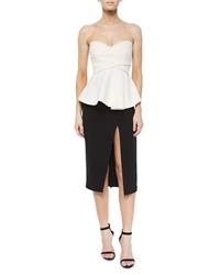 Derek Lam Front Slit Midi Pencil Skirt