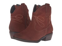 Vaneli Epium Rust Calf Suede Light Tan Embroidery Women's Pull On Boots Brown