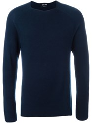 Giorgio Armani Ribbed Sweater Blue