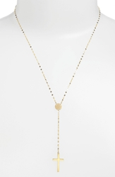 Lana 'Crossary' Y Necklace Yellow Gold