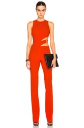Thierry Mugler Mugler Bonded Crepe Jumpsuit In Red