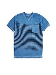 Buffalo David Bitton Striped V Neck Tee Multi