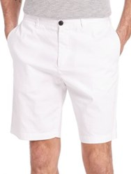 Theory Brucer Greely Shorts Tan White