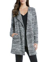 Karen Kane Textured Long Sleeve Jacket Grey