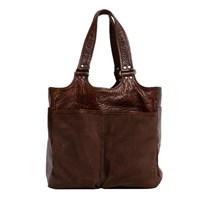 Moore And Giles Belle Picnic Tote Nubuck Bison Chocolate