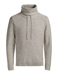 Jack And Jones Joraugust Knit High Neck Pullover Cloud Dancer