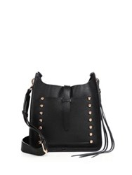Rebecca Minkoff Small Unlined Studded Leather Feed Crossbody Bag Black