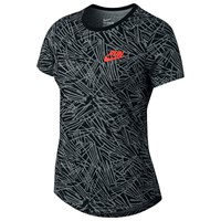 Nike Run P Palm Allover Print Running Top Cool Grey Black