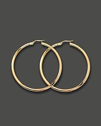 Roberto Coin Medium 18K Yellow Gold Hoop Earrings