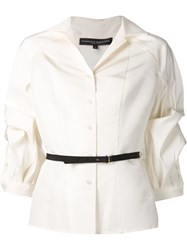Carolina Herrera Puff Sleeve Blouse White