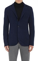 Barneys New York Men's Cashmere Three Button Sportcoat Navy