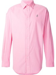 Alexander Wang Dollar Sign Embroidered Shirt Pink And Purple