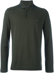 Z Zegna Chest Logo Polo Shirt Green