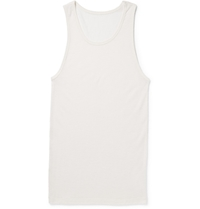 The Elder Statesman Cashmere And Silk Blend Knitted Tank Top White