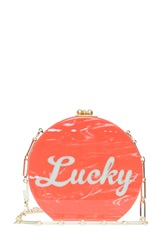 Edie Parker Oscar Lucky Clutch Orange