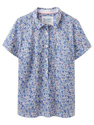 Joules Jo Floral Print Shirt Blue Ditsy
