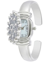 Charter Club Women's Silver Tone Snowflake Cuff Bracelet Watch 29Mm Only At Macy's