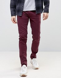 Farah Elm Chino In Slim Fit Bordeaux Red