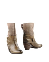 Janet And Janet Ankle Boots Military Green