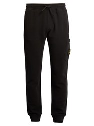 Stone Island Slim Fit Cotton Track Pants Black