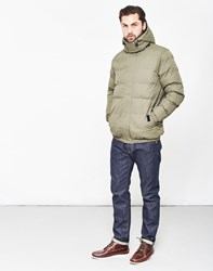 The Idle Man Puffer Jacket Green