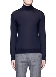 Tomorrowland Cashmere Silk Turtleneck Sweater Blue