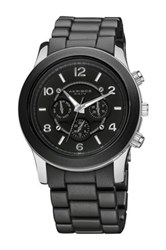 Akribos Xxiv Women's Quartz Multifunction Fashion Bracelet Watch Black