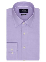 Hackett London Gingham Dobby Tailored Fit Shirt Lavender