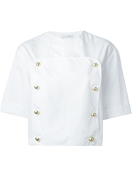 J.W.Anderson J.W. Anderson Double Breasted Bib Shirt White