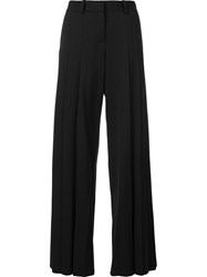 Vera Wang Pleated Palazzo Pants Black