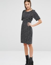 Trollied Dolly Shifty Sista Heart Print Dress Black