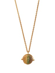 Jade Jagger Multi Stone And Gold Plated Disco Ball Necklace