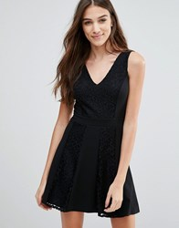 Wal G Skater Dress Black